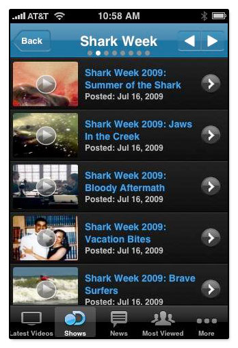 discovery channel releases an iphone app
