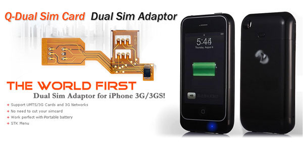 Dual Sim Adapter for iPhone 3G/3GS - iPhoneHeat