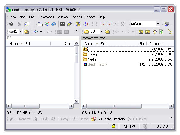 winscp iphone 3gs