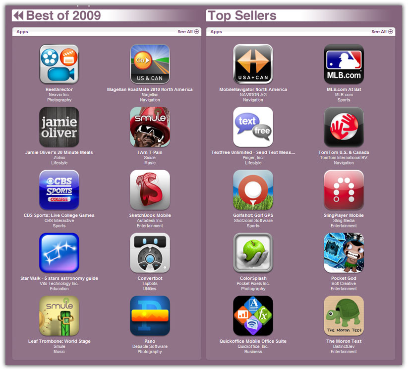 coolest iphone apps best iphone apps and of 2009 in itunes 10437