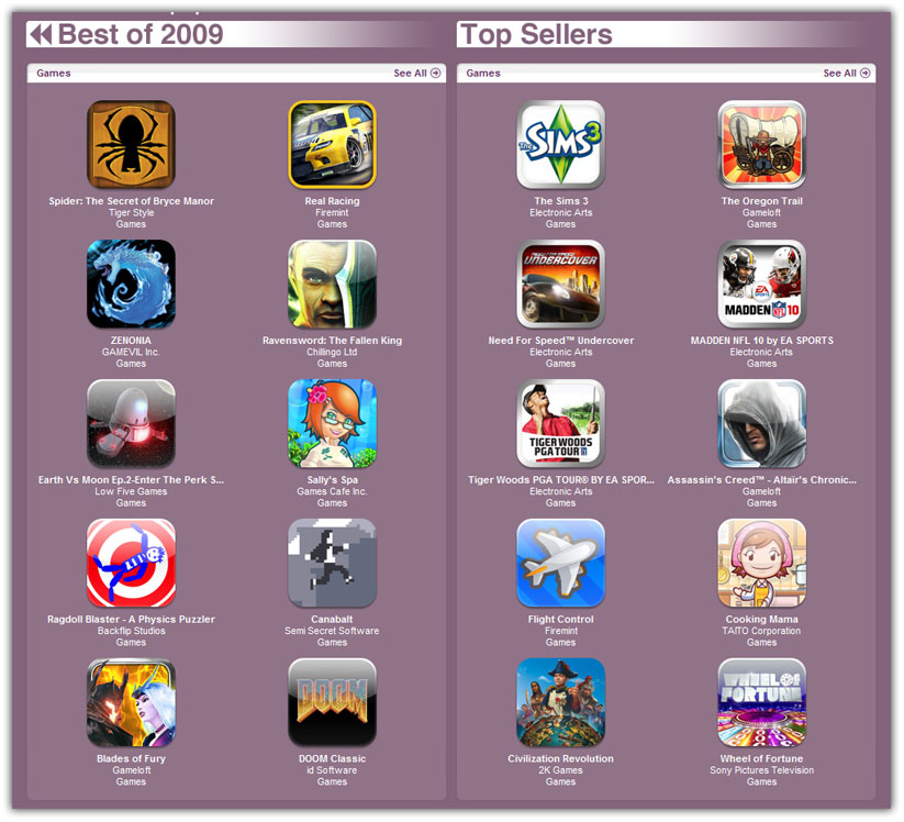 best iphone apps and games