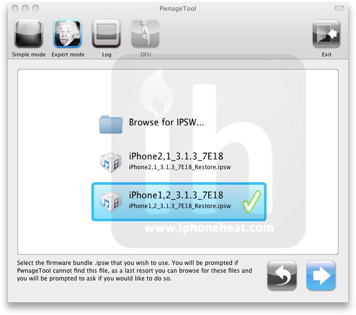 PwnageTool - Download and jailbreak iPhone & iOS - iPhoneHeat