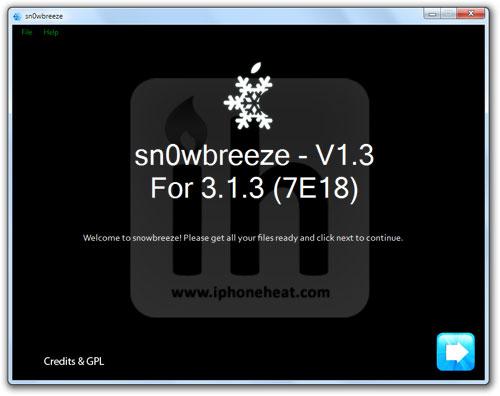 sn0wbreeze 3.1.3 jailbreak