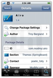a i r o iphone theme
