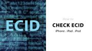 how to check ecid of iphone and ipad