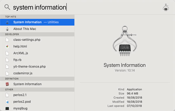 system information mac