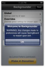 backgrounder app