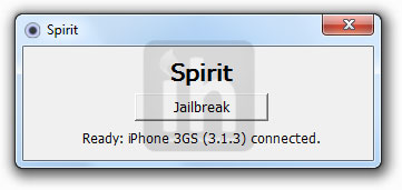 spirit jailbreak iPhone 3GS 3.1.3