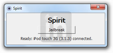 spirit jailbreak ipod touch 3g