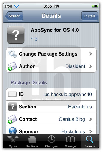 AppSync 4 0 for iOS 4 0 Jailbreak firmware