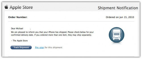 iPhone 4 pre-orders shippment