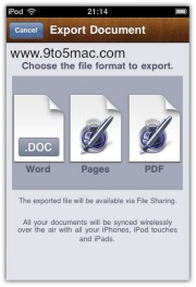 iwork pages iphone