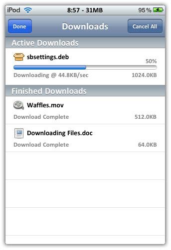 Resume downloads in safari