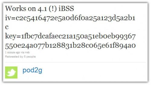 ios 4.1 jailbreak pod2g