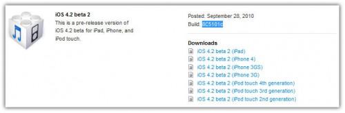 ios 4.2 beta 2