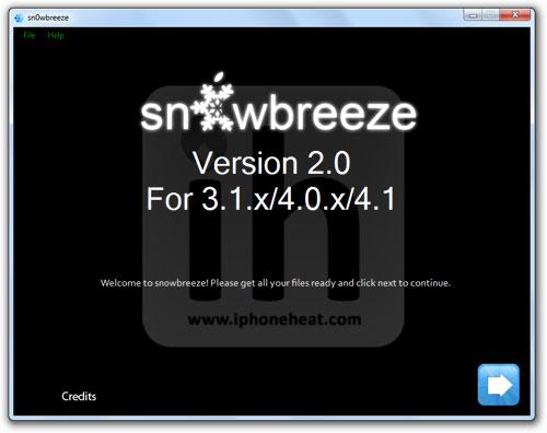 jailbreak iphone 3gs 3g ios 4.1 Sn0wbreeze 2.0