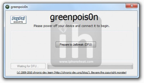 greenpois0n jailbreak iPhone 4 3gs 1