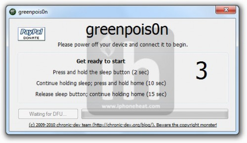 greenpois0n jailbreak iPhone 4 3gs