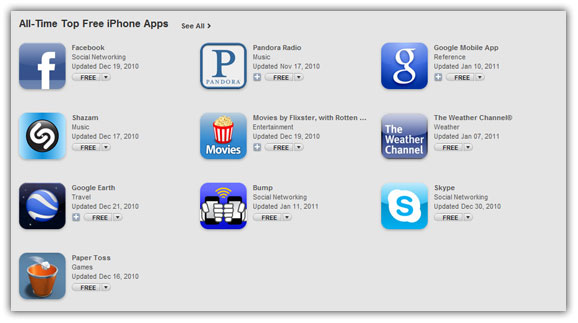 top iphone apps