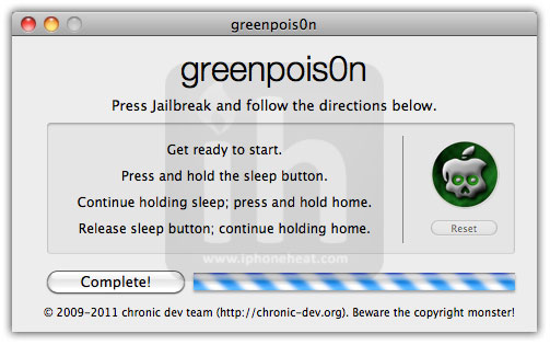 jailbreak iphone 4 3gs 4.2.1 greenpois0n