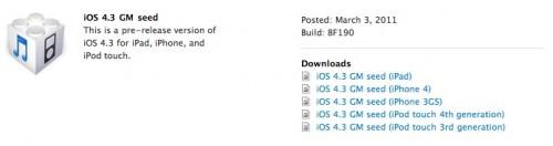 iOS 4.3 GM