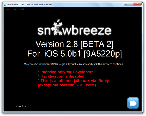 jailbreak iphone 3gs 5 sn0wbreeze