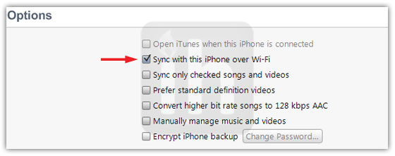 itunes wifi sync iphone