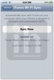 wirelessly sync iphone itunes 3