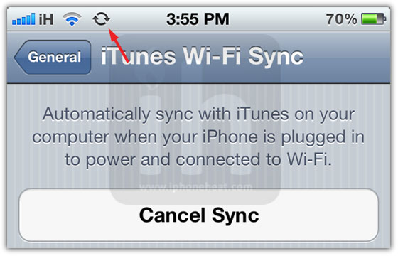 wifi sync iphone