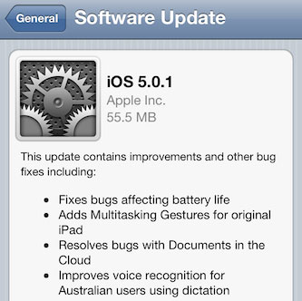 download ios 5.0.1 OTA