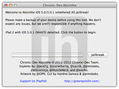 jailbreak iphone 4s absinthe 1
