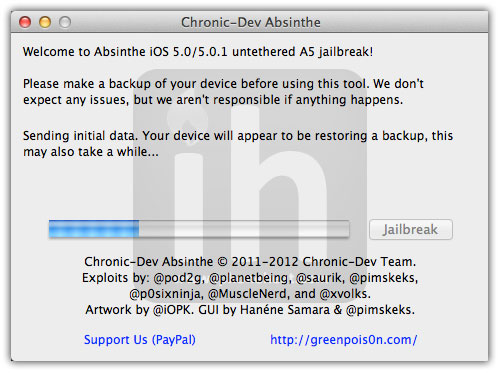 jailbreak iphone 4s absinthe 3