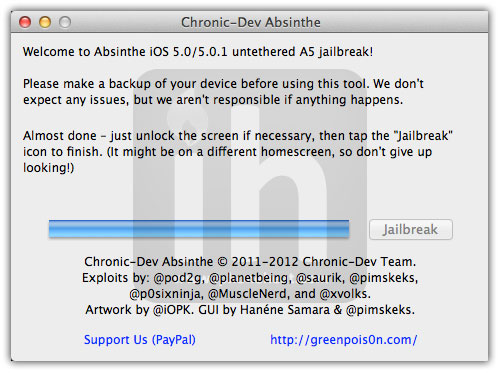 jailbreak iphone 4s absinthe 7