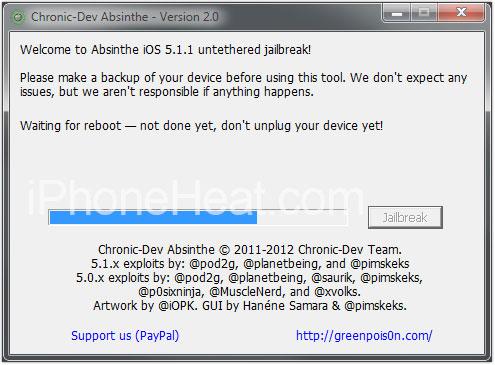 jailbreak ipod touch absinthe 2 reboot