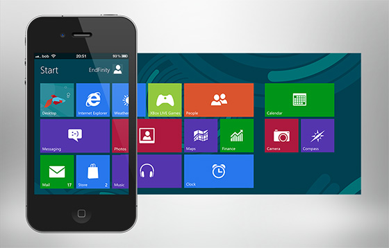 metroon windows 8 theme for iPhone
