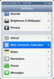 set up outlook email iphone ipad 1