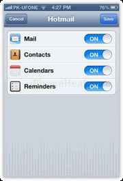 set up outlook email iphone ipad 5