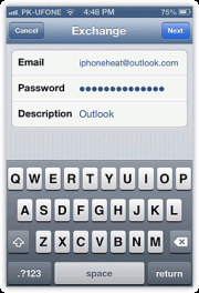 set up outlook email iphone ipad 7