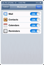 set up outlook email iphone ipad 8