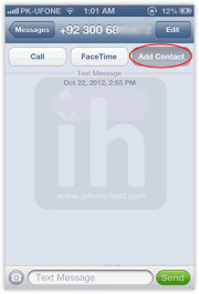 how to add extension in iphone contacts