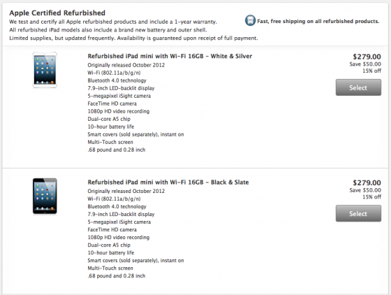 refurbished ipad price cut