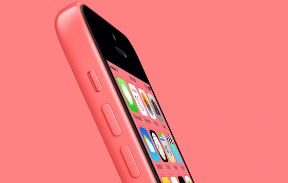 red-iPhone-5c-side