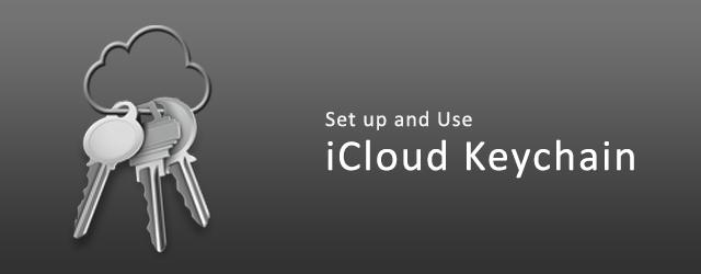 set up use icloud keychain