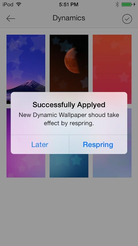 ios 7 beta dynamic wallpaper iphone 4 image