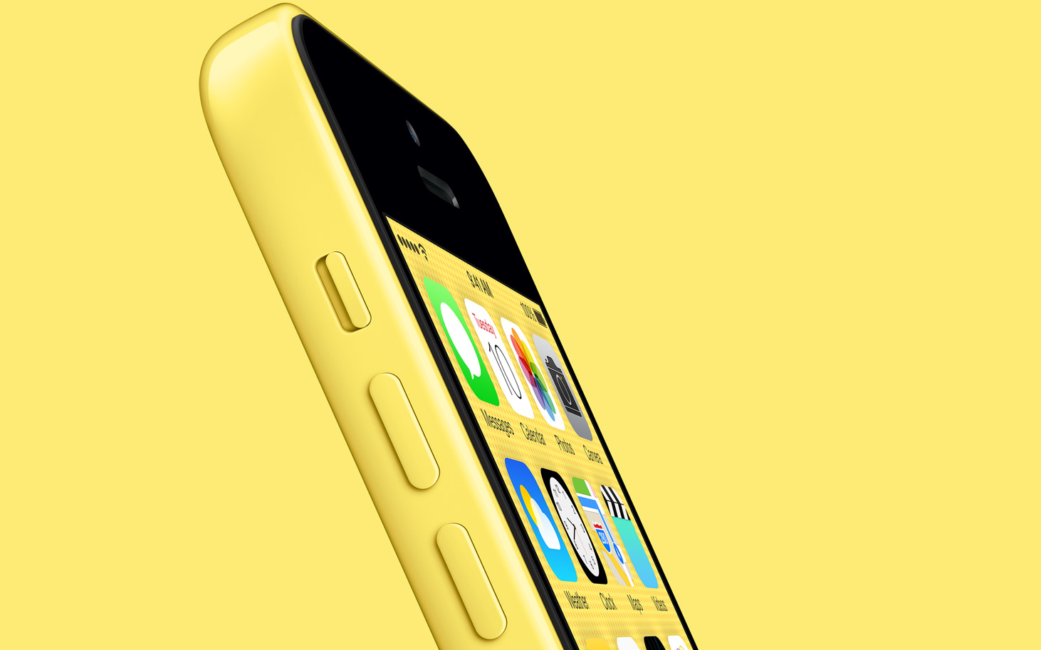 yellow iphone 5c