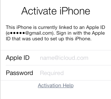 icloud activation lock iphone