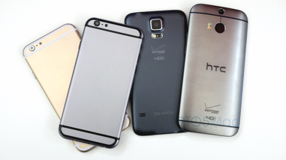iphone 6 vs galaxy s5 vs htc one m8