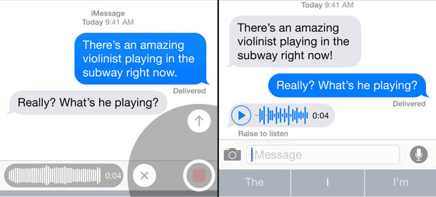 ios 8 messages voice