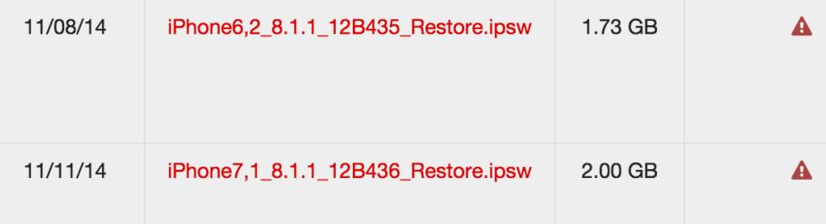 iOS 8.1.1 signing