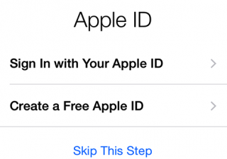 iPhone 6 setup Apple ID